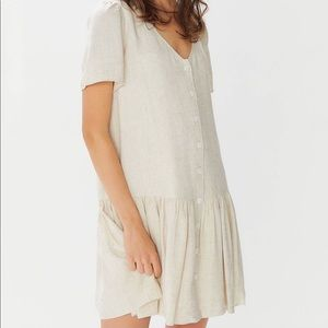 NWT Urban Outfitters Houston Linen Button Dress